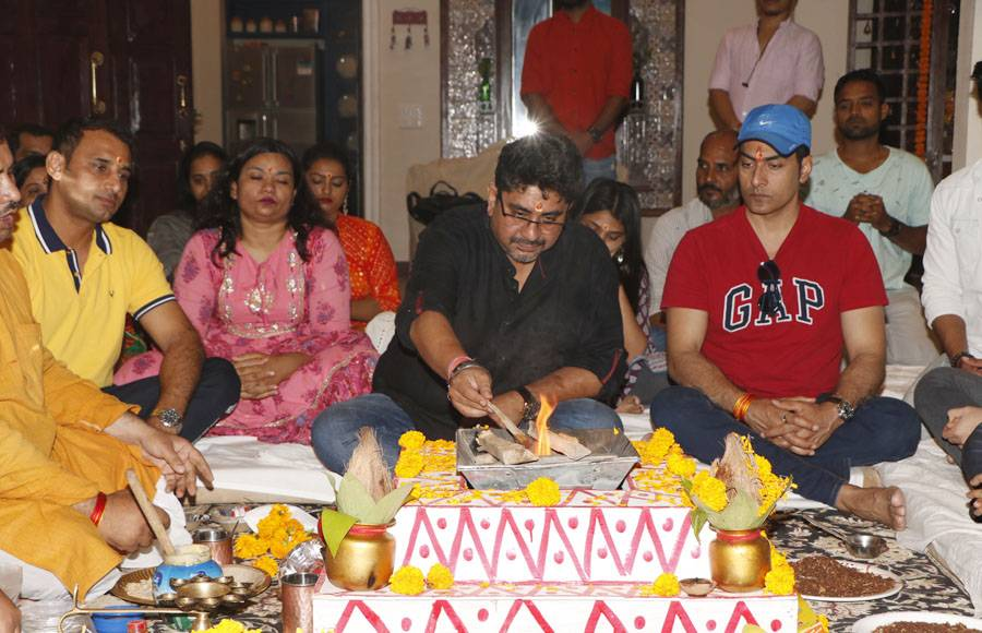 Havan on the sets of Rajan Shahi's  Anupamaa