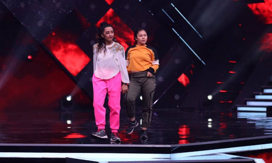 On the sets of Sony TV's India's Best Dancer